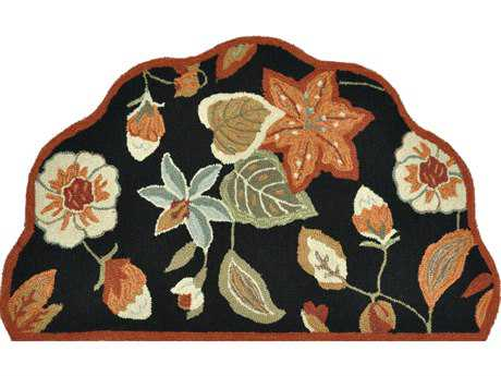 Loloi Summerton Transitional Black Hand Made Synthetic Floral/Botanical Area Rug - SSC19-BLRU-SCH