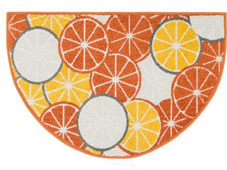 Loloi Tilley Modern Orange Machine Made Synthetic Geometric Area Rug - TILLHTI01ML00254H
