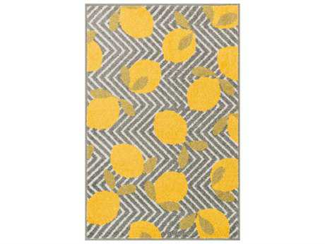 Loloi Tilley Modern Machine Made Synthetic Chevron 2'5'' x 3'9'' Area Rug - TILLHTI05GYYE2539