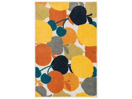 Loloi Tilley Modern Machine Made Synthetic Floral/Botanical 2'5'' x 3'9'' Area Rug - TILLHTI07ML002539