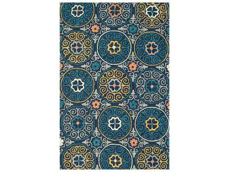 Loloi Tropez Transitional Hand Made Synthetic Geometric 2'3'' x 3'9'' Area Rug - TROPTZ-07NVML2339