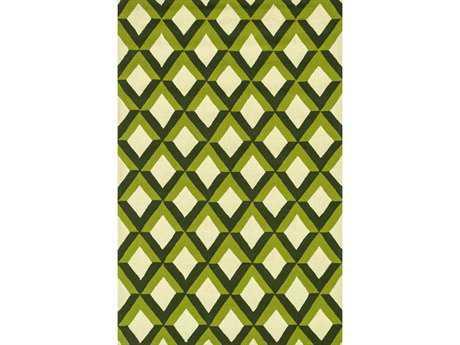 Loloi Venice Beach Modern Green Hand Made Synthetic Geometric 2'3'' x 3'9'' Area Rug - VENIVB-12GC002339