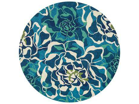 Loloi Ventura Transitional Teal Hand Made Synthetic Floral/Botanical Area Rug - VENTHVT01AQML-ROU