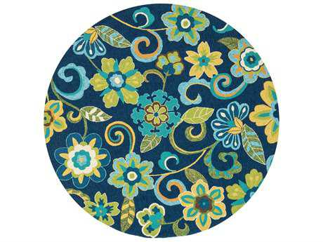 Loloi Ventura Transitional Hand Made Synthetic Floral/Botanical Area Rug - VENTHVT10BBGR-ROU