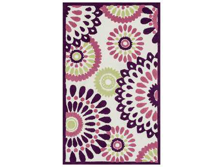Loloi Zoey Modern Purple Hand Made Synthetic Floral/Botanical 2'0'' x 3'0'' Area Rug - ZOEYHZO06PUML2030