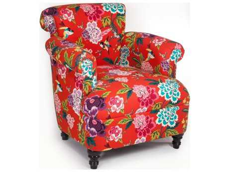 Loni M Designs Jimmy Red Floral Accent Chair
