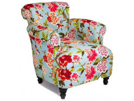 Loni M Designs Jimmy Teal Floral Accent Chair