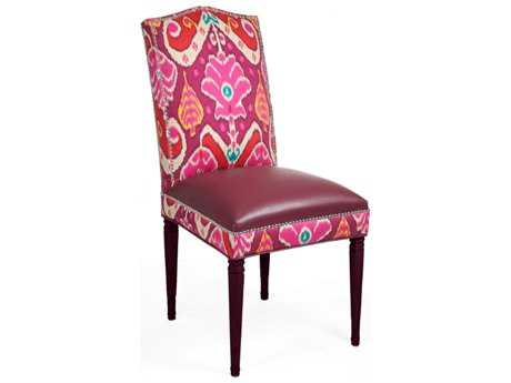 Loni M Designs Sophie Berry & Orange Dining Side Chair with Berry Legs
