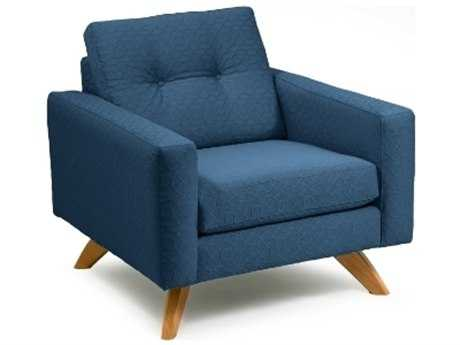 Loni M Designs Stanley Blue Textured Accent Chair
