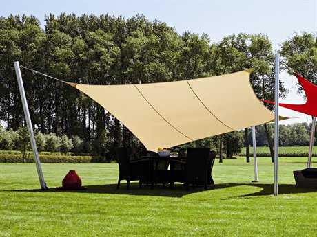 Luxury Umbrellas Ingenua 10 Foot Square Anodized Aluminum Shade Sail Patio Umbrella