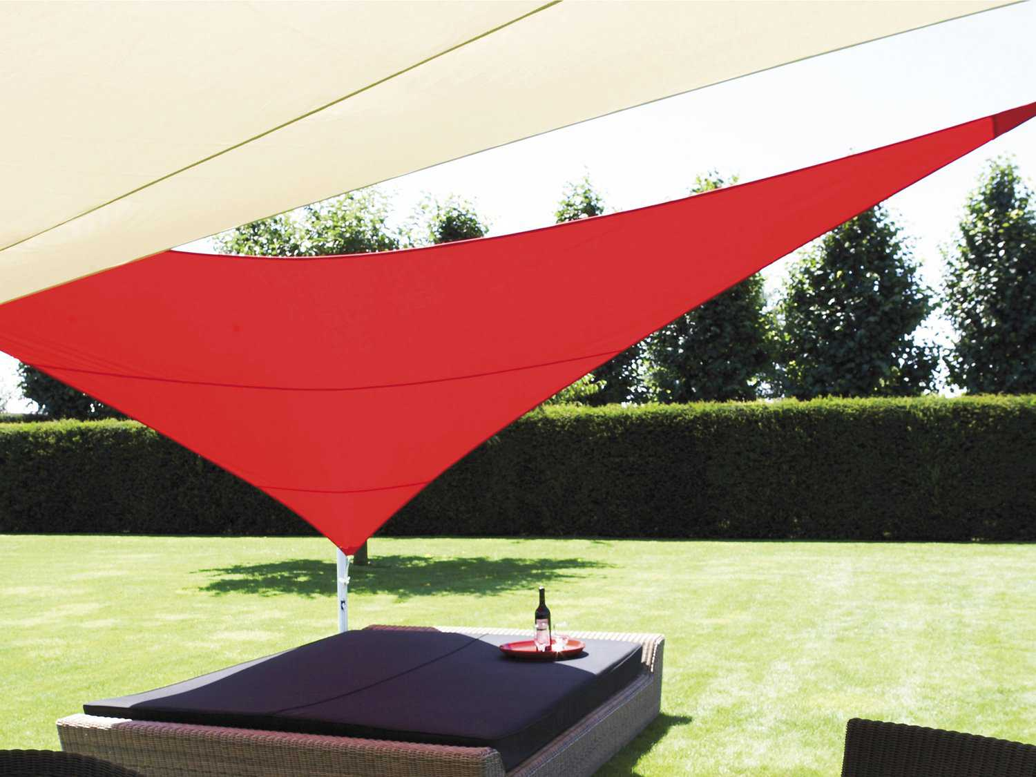 Luxury Umbrellas Ingenua 13 Foot Triangular Anodized