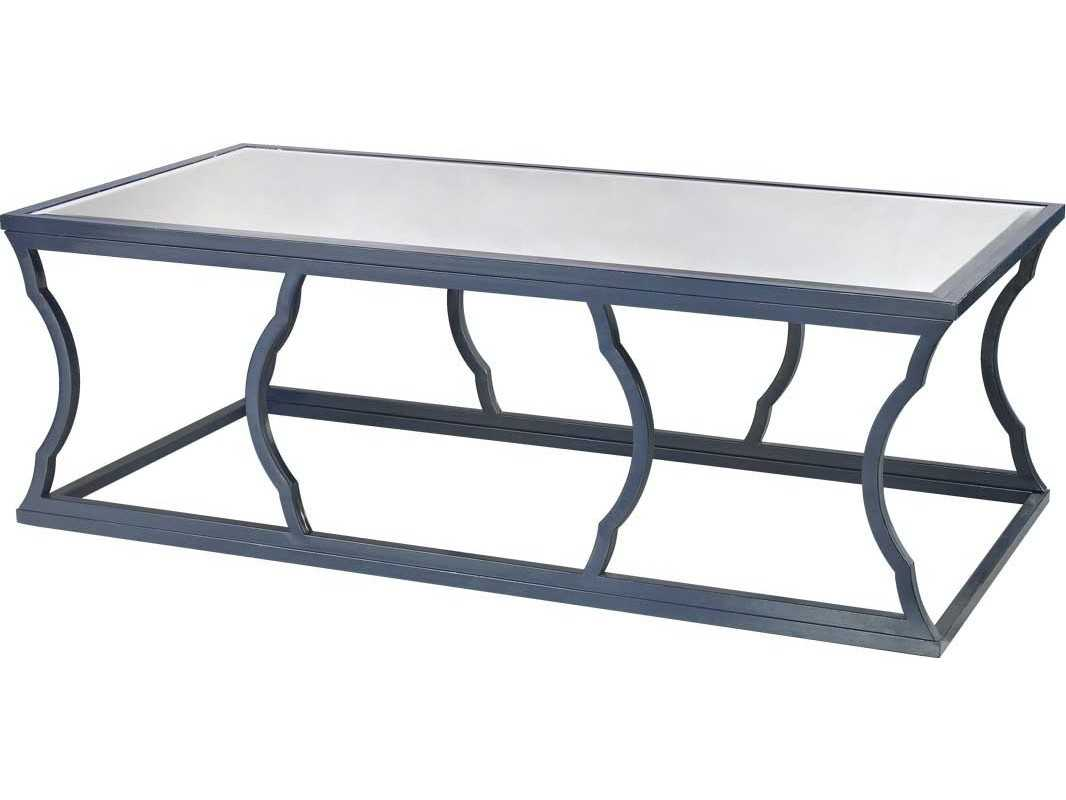 Lazy Susan 60 X 30 Rectangular Metal Cloud Navy Blue Coffee Table 114 113