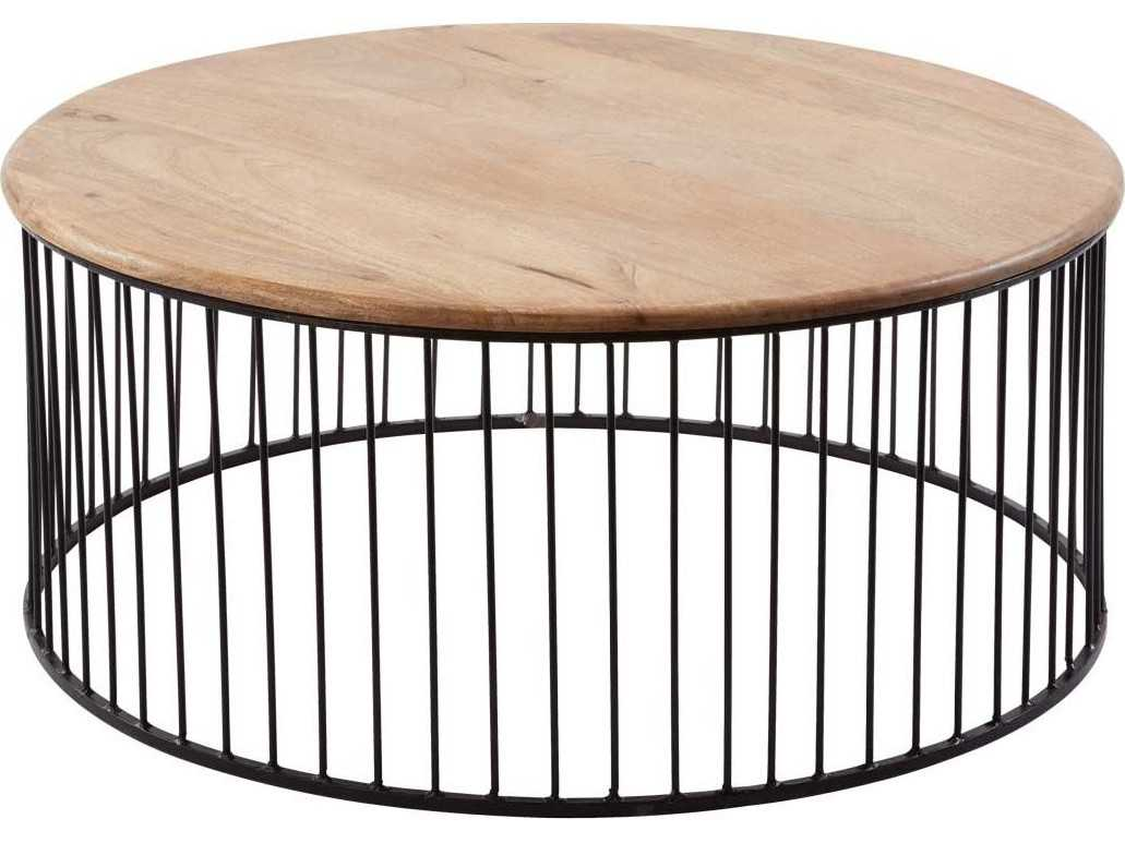 Dimond Home 35 Round Short Teak Metal Carousel Coffee Table 985 046