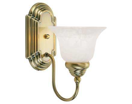 Livex Lighting Belmont Antique Brass 6.25'' Wide Wall Sconce