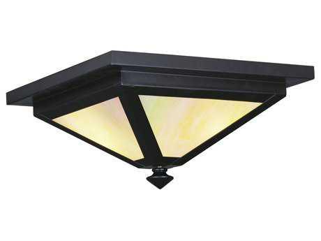 Livex Lighting Montclair Mission Bronze Three-Light Outdoor Ceiling Light