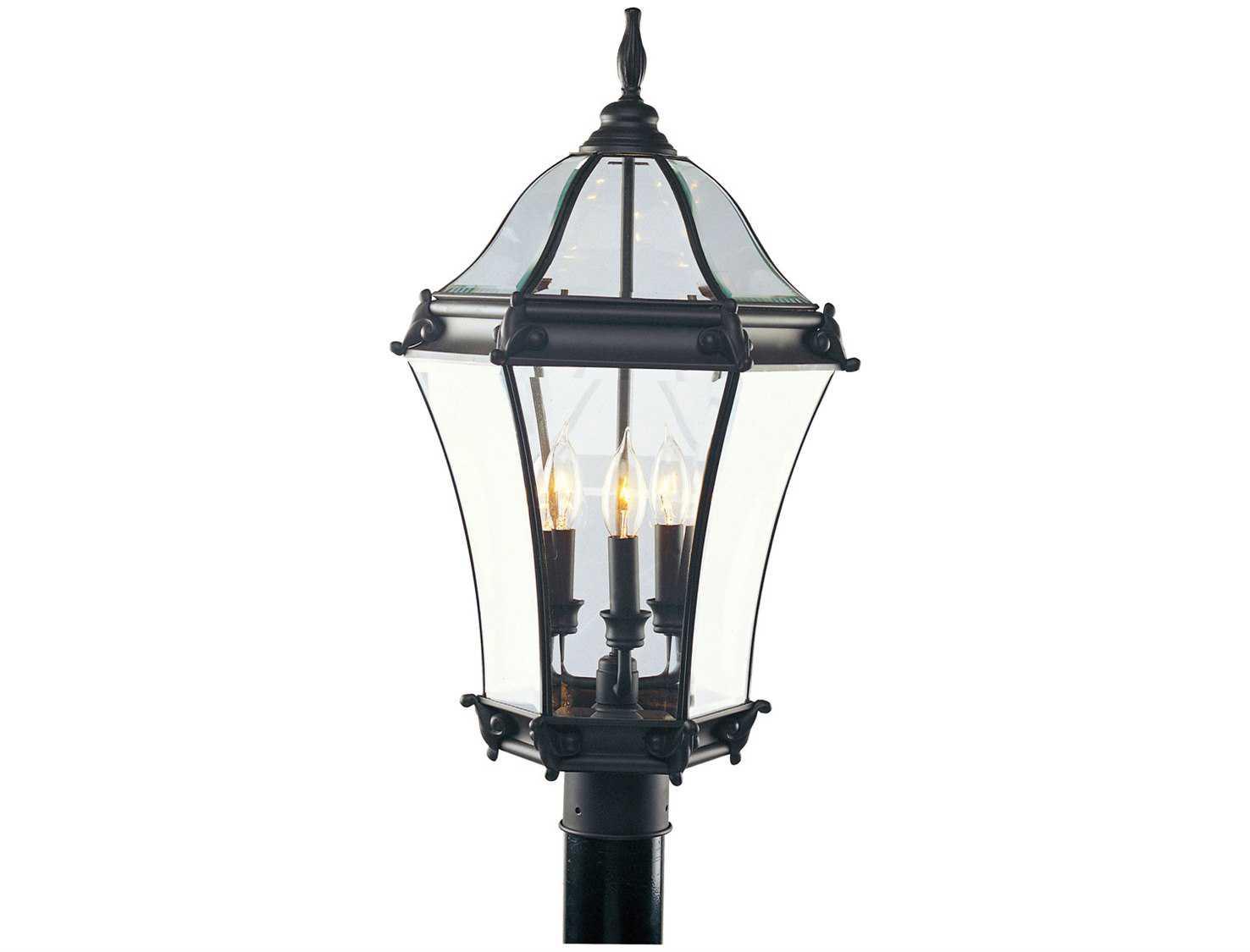 Livex Lighting Fleur De Lis Bronze Three Light Outdoor