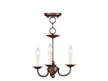 Livex Lighting Coronado Imperial Bronze Three-Light 14'' Wide Chandelier