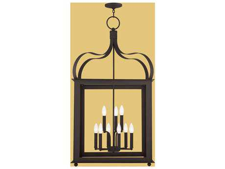 Livex Lighting Garfield Bronze Nine-Light Outdoor Pendant Light