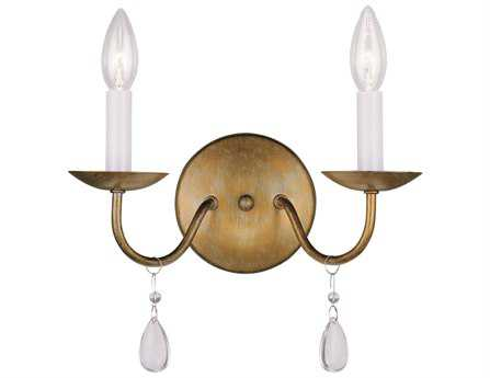 Livex Lighting Mercer Antique Gold Two-Light Wall Sconce