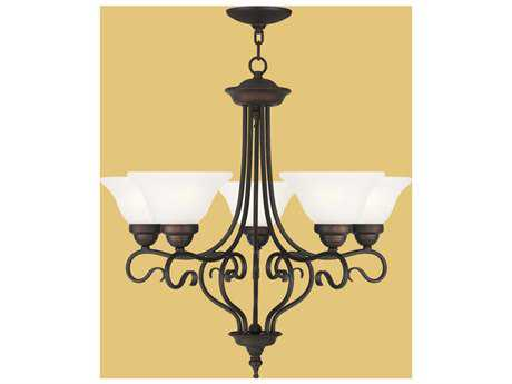 Livex Lighting Coronado Bronze Five-Light 25.5'' Wide Chandelier