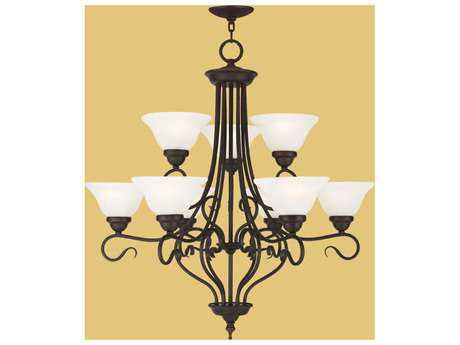 Livex Lighting Coronado Bronze Nine-Light 31'' Wide Chandelier