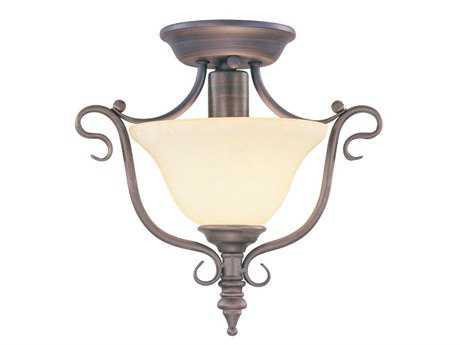 Livex Lighting Coronado Imperial Bronze 11.5'' Wide Semi-Flush Mount Light