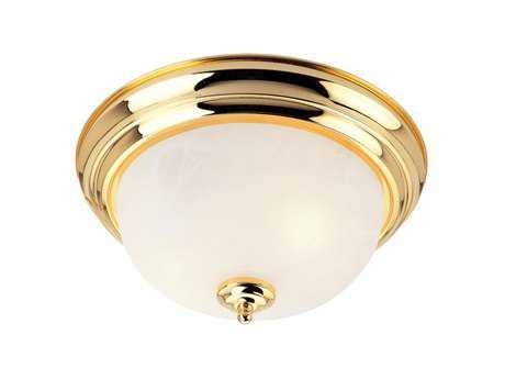 Livex Lighting Regency Polished Brass Two-Light 13'' Wide Flush Mount Light