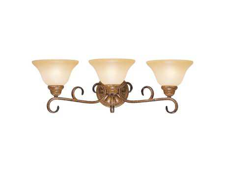 Livex Lighting Bistro Venetian Patina Three-Light Vanity Light