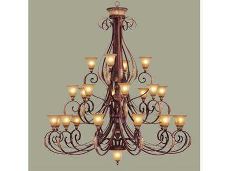 Livex Lighting Villa Verona Bronze 24-Light 72'' Wide Grand Chandelier