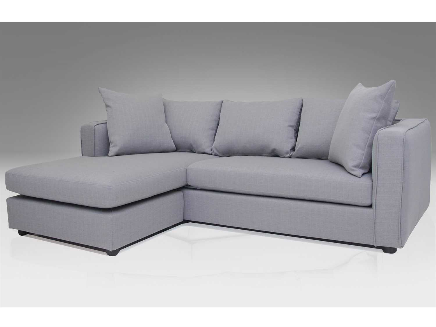 mobital switch grey tweed left facing sectional sofa sel