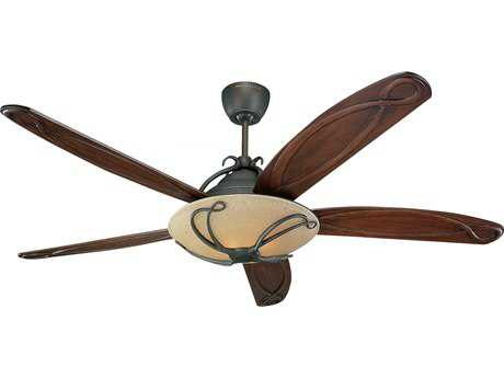 Monte Carlo Fans Chloe Roman Bronze 66'' Wide Indoor Ceiling Fan with Light