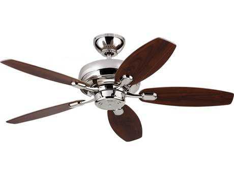Monte Carlo Fans Centro Max II Polished Nickel 44'' Wide Indoor Ceiling Fan