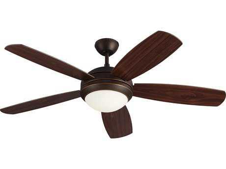Monte Carlo Fans Discus ES Roman Bronze 52'' Wide Indoor Ceiling Fan with Light