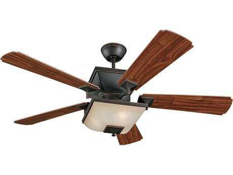 Monte Carlo Fans Town Square Roman Bronze 52'' Wide Indoor Ceiling Fan with Light