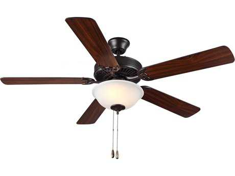 Monte Carlo Fans HomeBuilder II Bronze 52'' Wide Indoor Ceiling Fan with Light