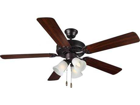 Monte Carlo Fans HomeBuilder III Bronze 52'' Wide Indoor Ceiling Fan with Light