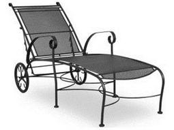 Wrought iron patio furniture wrought iron patio sets sale for Black wrought iron chaise lounge
