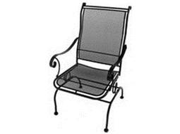 Meadowcraft Alexandria Wrought Iron Coil Spring Dining Chair - Price Includes 2 Chairs