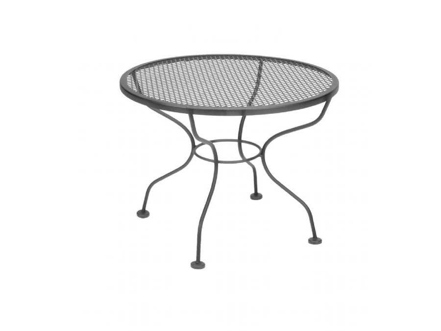 Meadowcraft Wrought Iron 24 Round Micro Mesh Cocktail Table 3022420 01