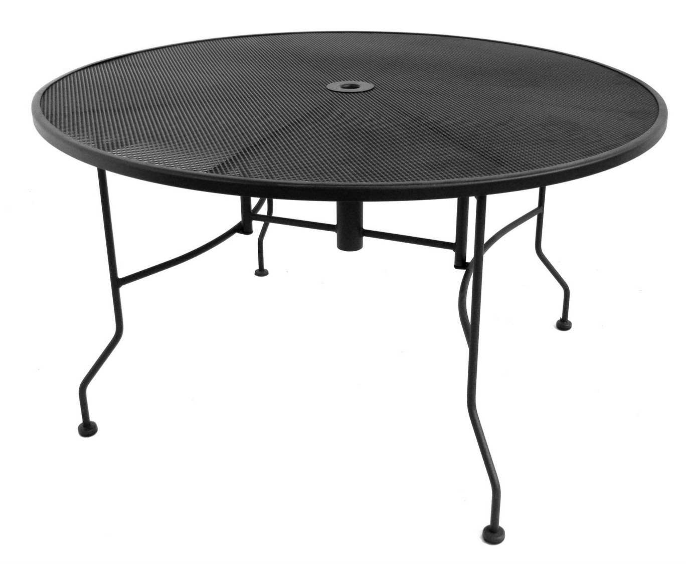 Meadowcraft Wrought Iron 60 Round Micro Mesh Dining Table 3096000 01