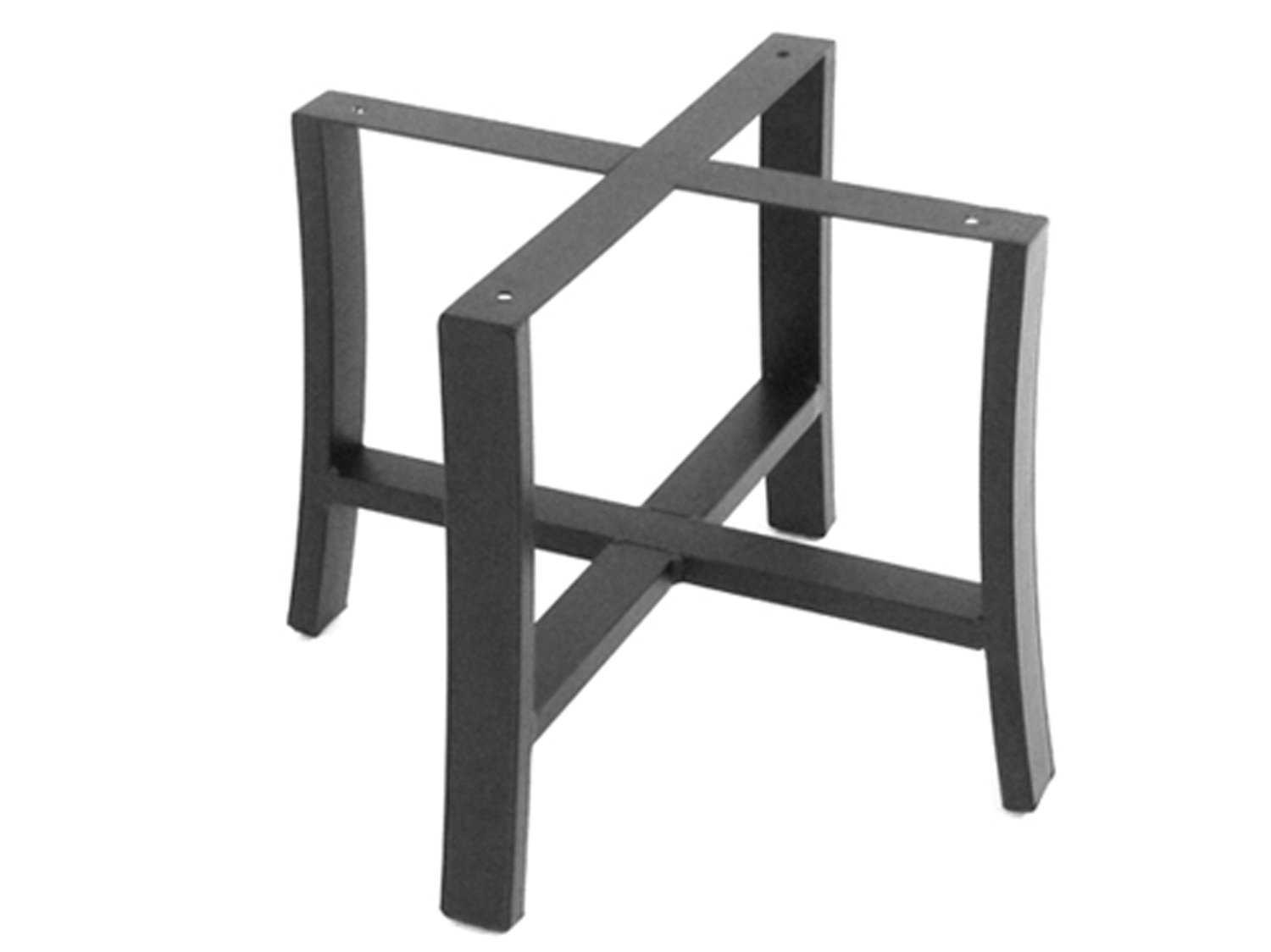 Meadowcraft maddux wrought iron end table base 4412370 01 for Side table base