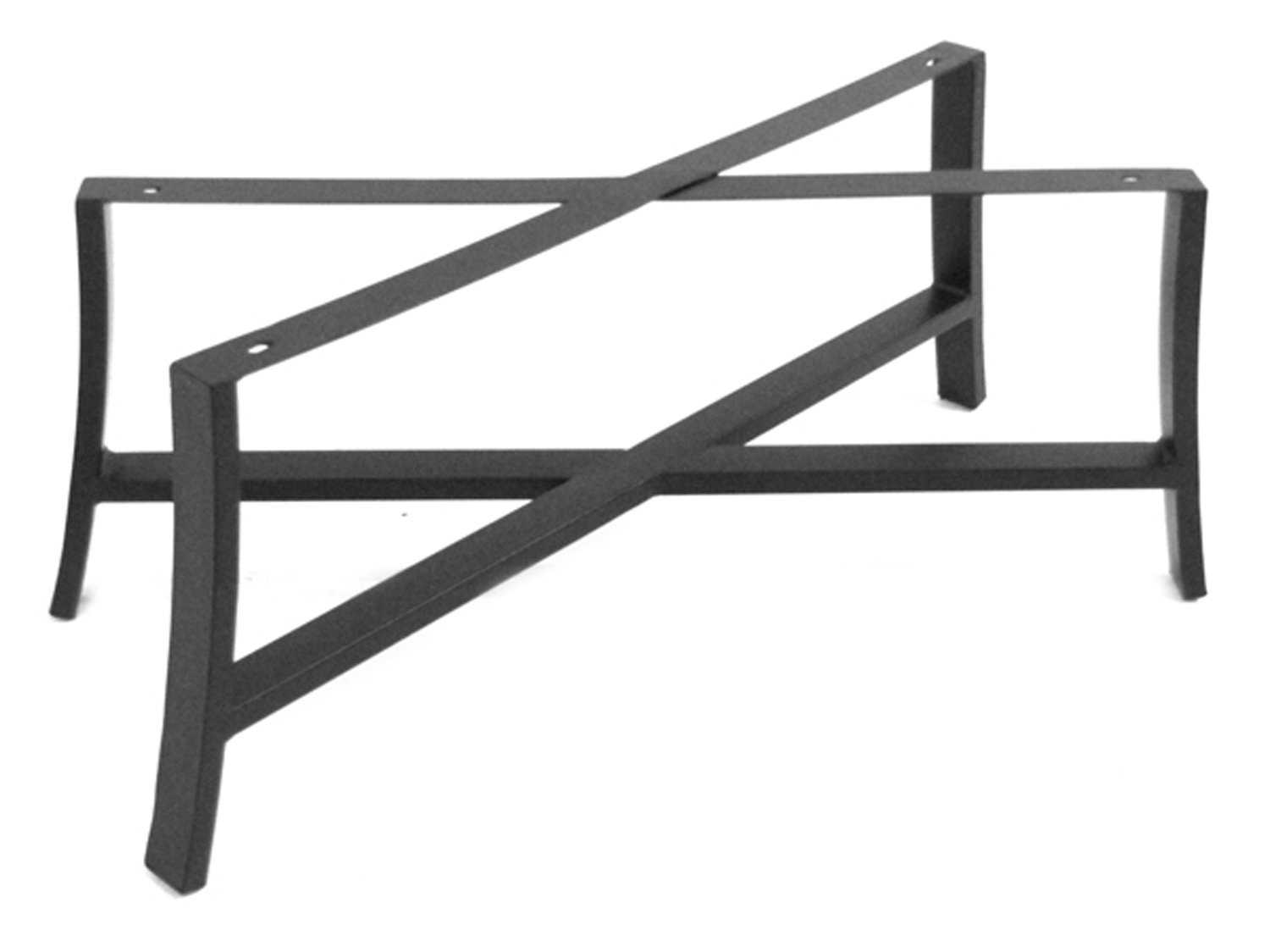 Meadowcraft maddux wrought iron coffee table base 4413370 01 Wrought iron coffee table bases