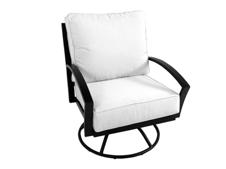 Meadowcraft Maddux Wrought Iron Swivel Rocker Lounge Chair
