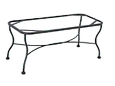 Meadowcraft Table Wrought Iron Coffee Table Tube Base 6713370 01