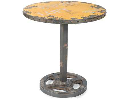 Moe's Home Collection 30 Round Yellow Wheel Table