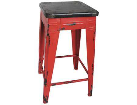 Moe's Home Collection Sturdy Red Counter Stool