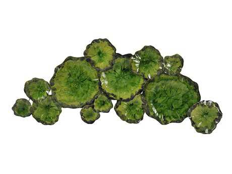 Moe's Home Collection Green Metal Lily Pad Wall Decor