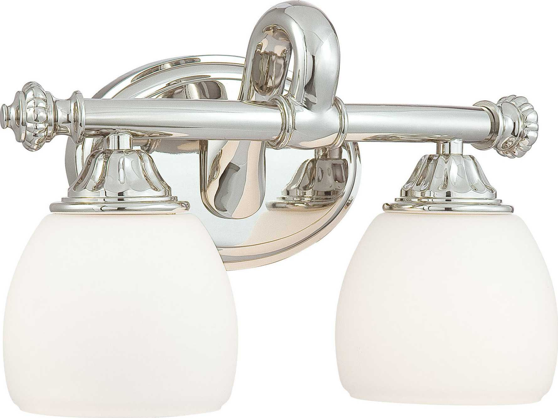 Metropolitan Lighting Polished Nickel Two-Lights Vanity Light N2822-613