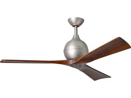 Matthews Fan Company Irene Brushed Nickel & Walnut Tone 52'' Wide Three-Blade Indoor Ceiling Fan