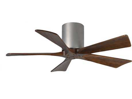 Matthews Fan Company Irene-H Brushed Nickel & Walnut Tone 42'' Wide Five-Blade Indoor Ceiling Fan